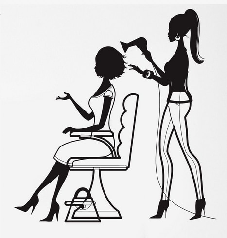Sexy girls hair salon