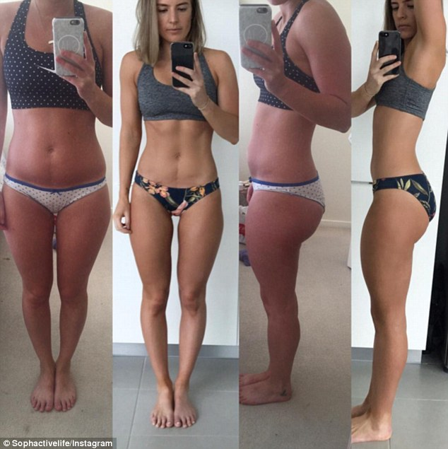 Nude body transformation