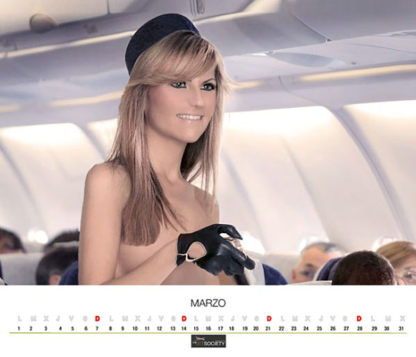 Airline stewardess nude real