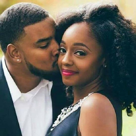 Beautiful black couple love
