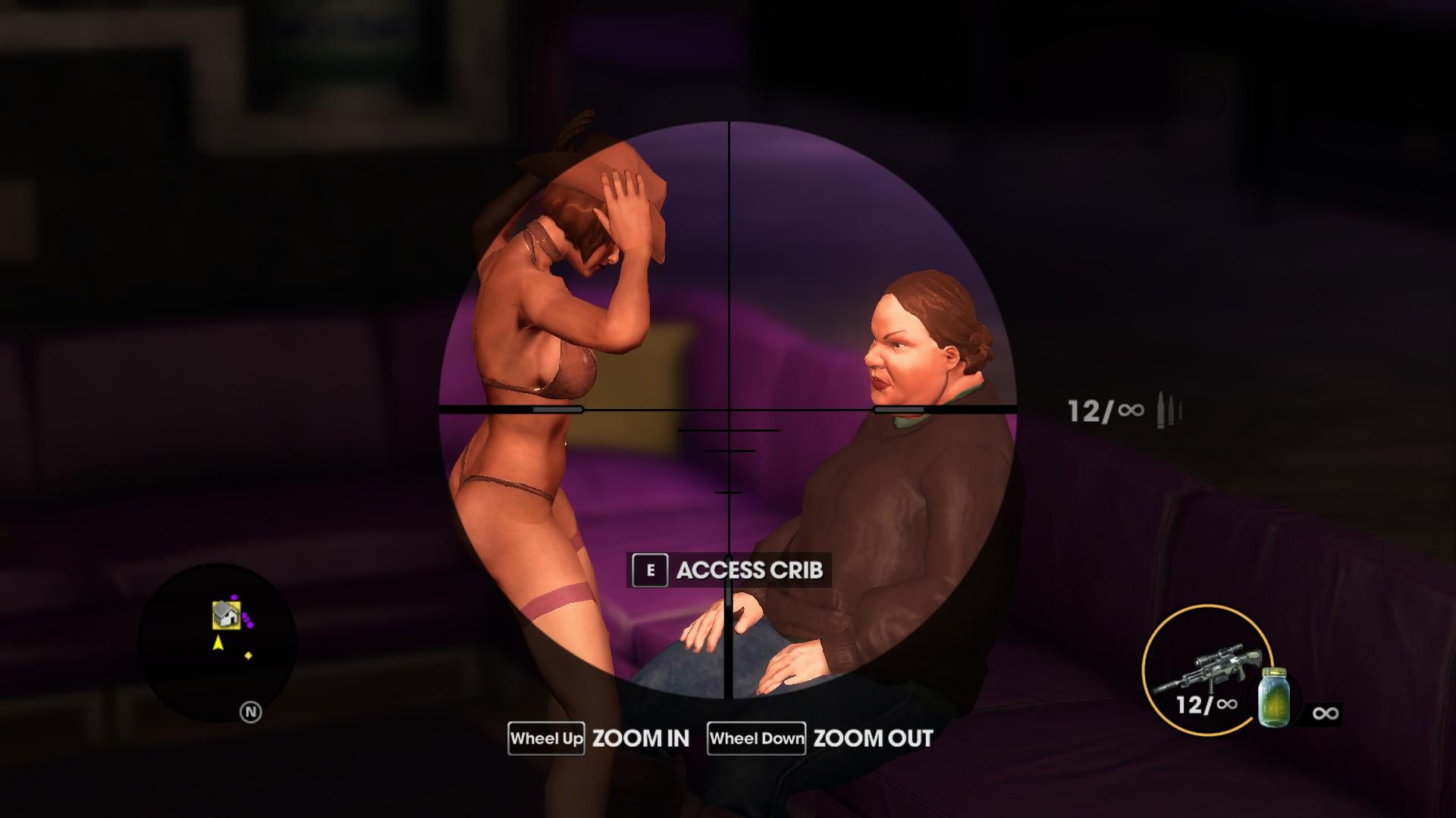 Stripper lap dance game