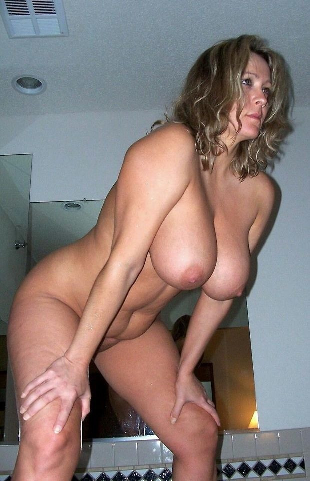 Blonde milf bent over