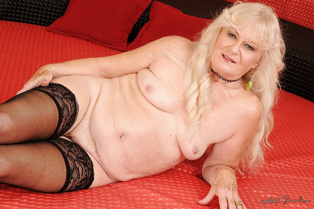 stripping posing Granny and