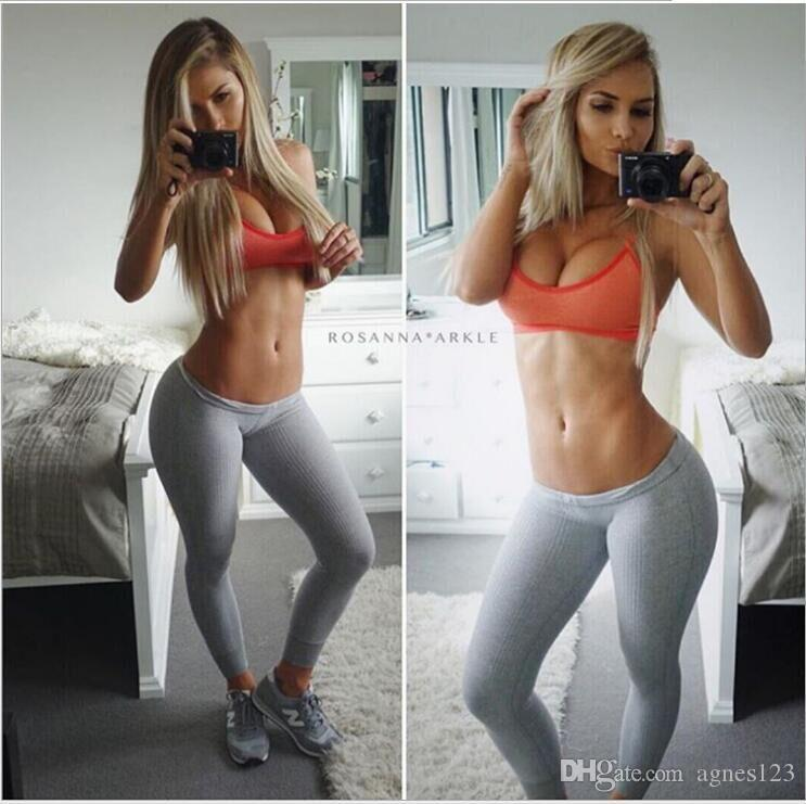 Hot girl wearing joggers