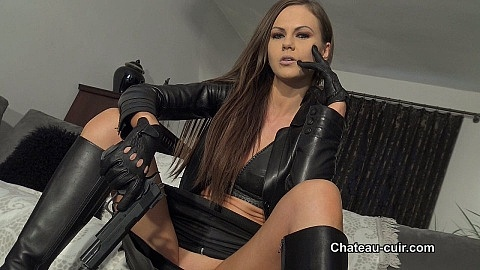 Leather fetish femdom