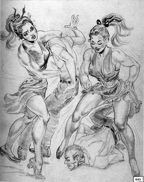 Amazon woman femdom drawing