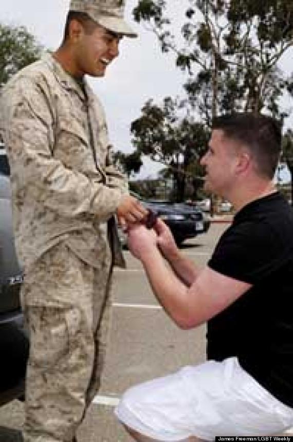 Real gay military men army