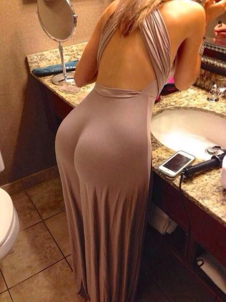 Big ass tight dress