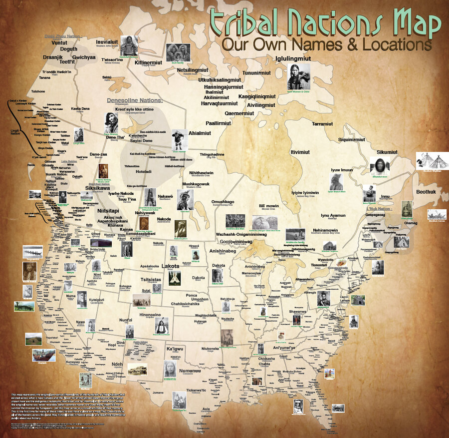 tribes map Native american indian