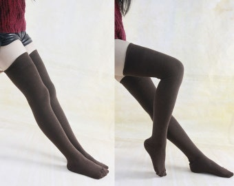 Naked with thigh highs