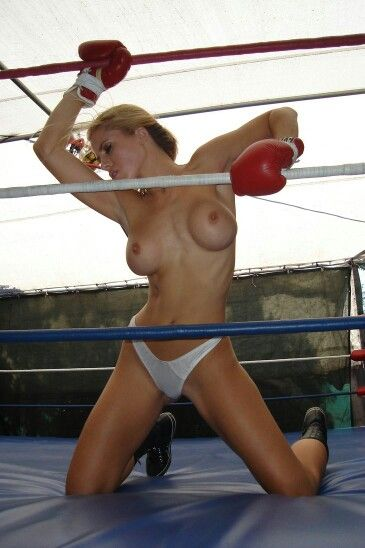 Topless boxing ring girls