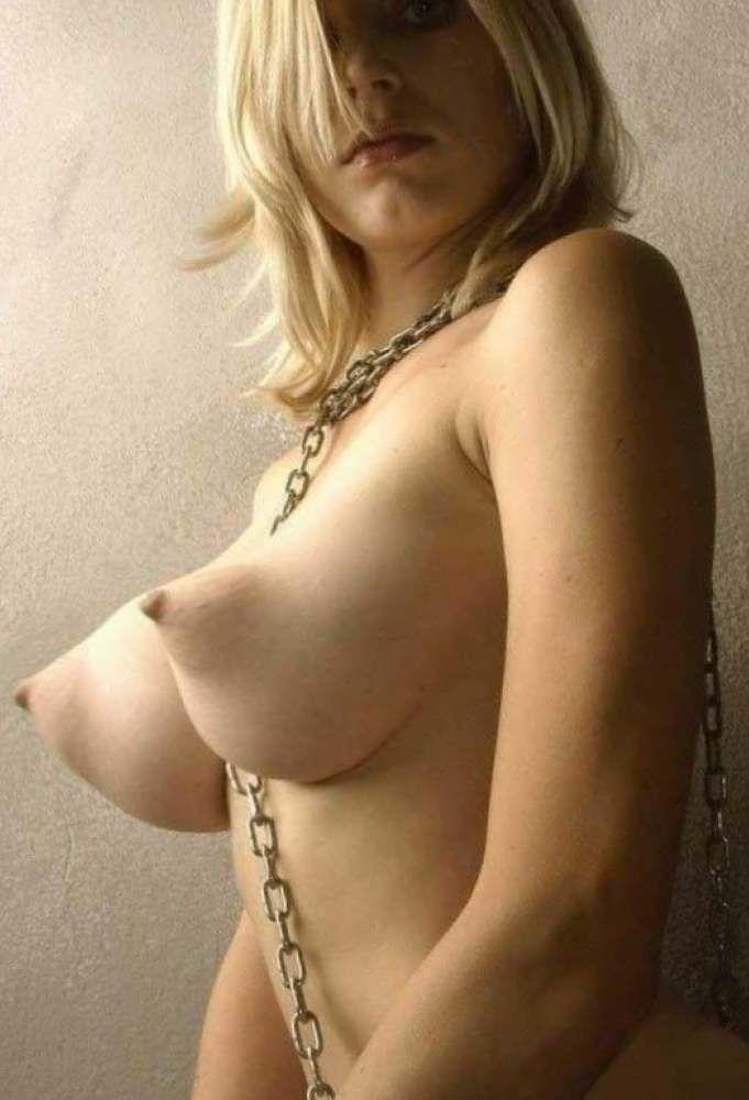 Banana tits with puffy nipples