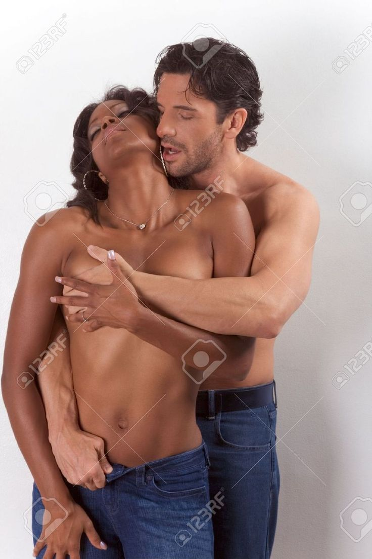 Nude black men kissing white girl