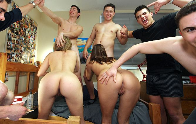 College dare dorm porn