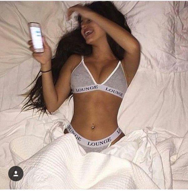 Girl selfie panties pov