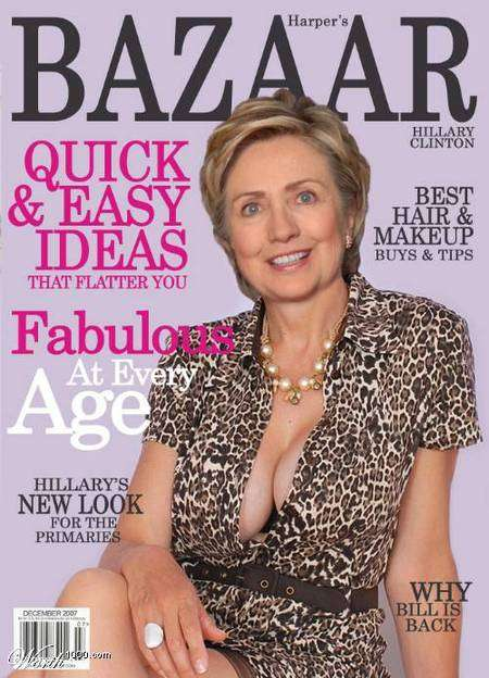 cleavage Hillary clinton