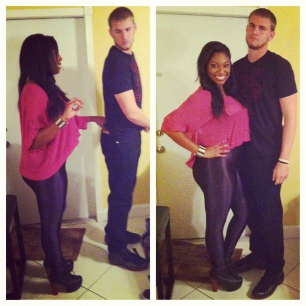 Black couple white girl and boy