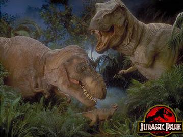 Dinosaurs from jurassic park t rex