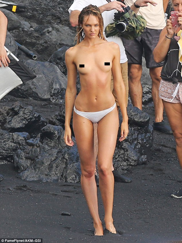 Hot beach girls half naked