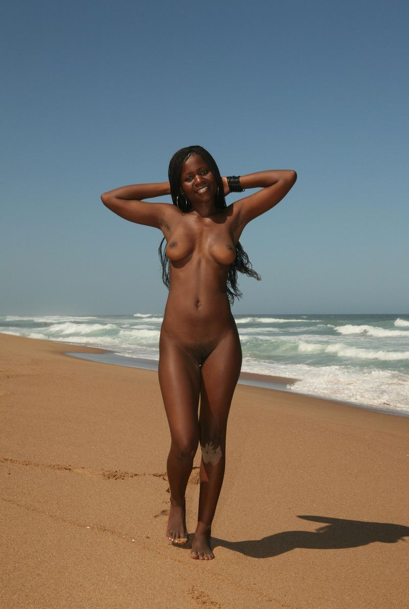 African woman nude beach