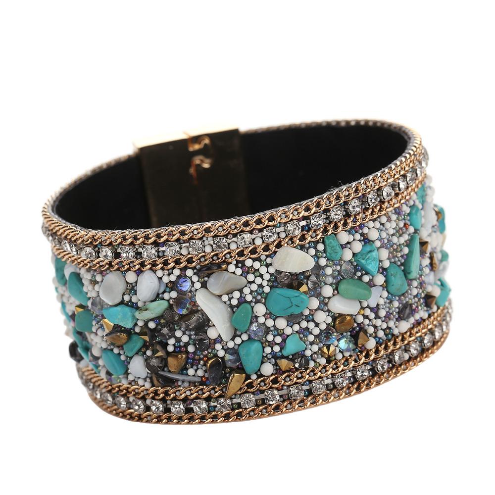 Leather bangle bracelet
