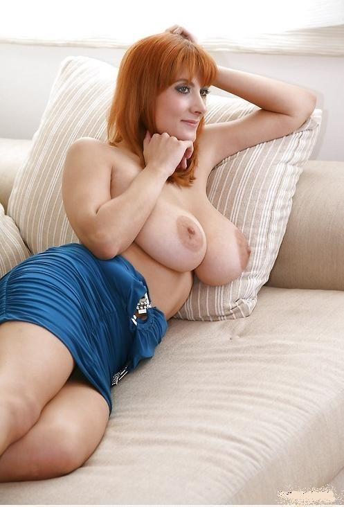 Sexy big tit redhead milfs