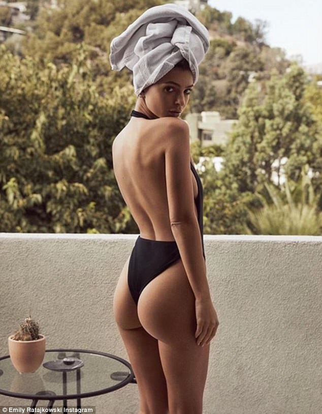 Black booty thong