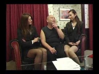 Japanese ballbusting femdom facesitting