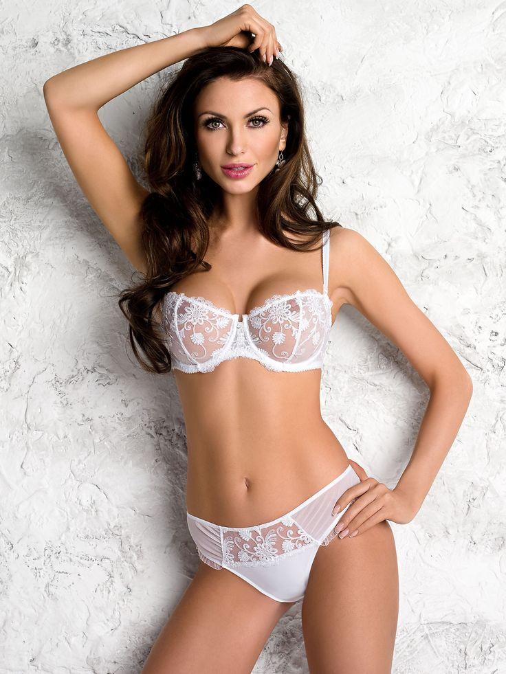 Sexy brunette sheer lingerie