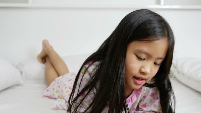 Asian teen girls throat