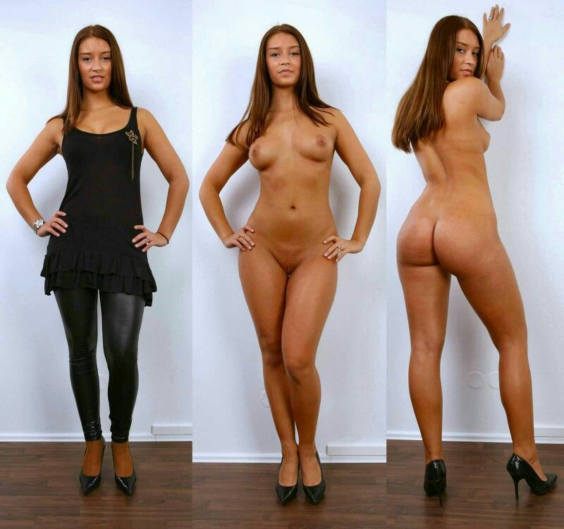 Clothed unclothed women