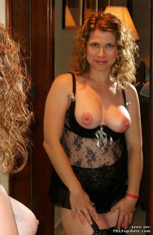 Milf lingerie amateur wife