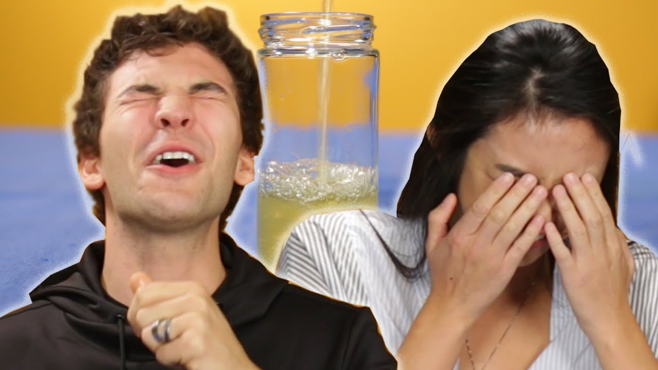 Girls drinking their pee