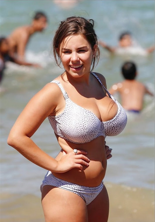 boobs on beach Big