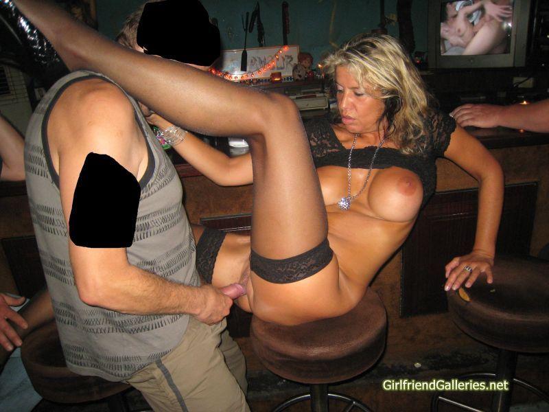 Wife group sex public