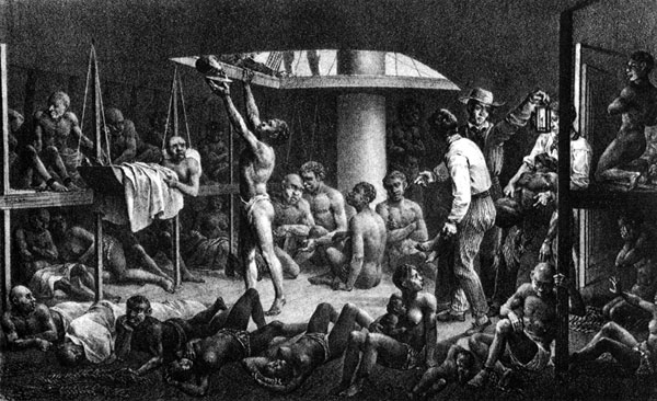 African american slaves in chains