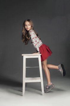 Fashion model young teen girl