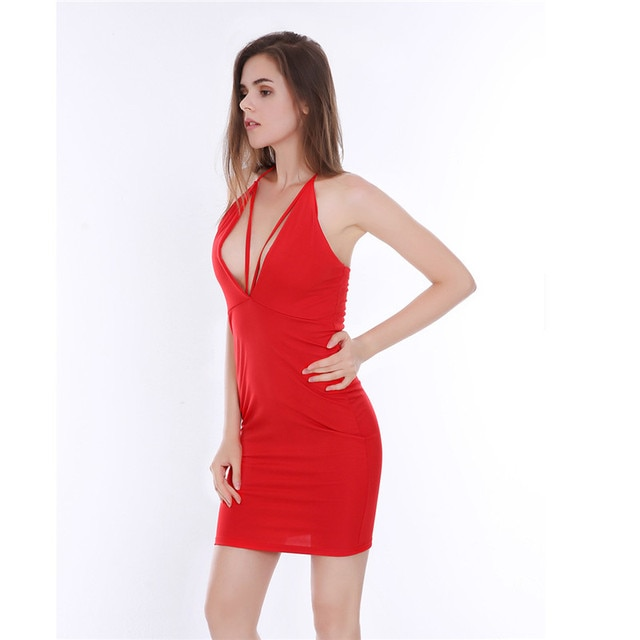 Sexy women in red dresses