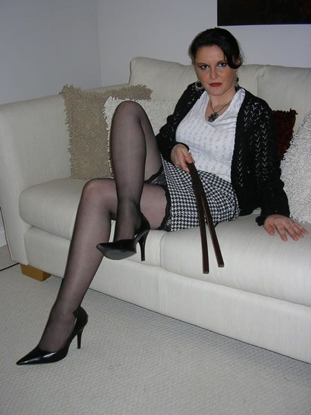 Strict high heel matures