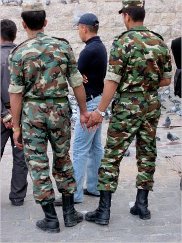 Gay men military army uniform