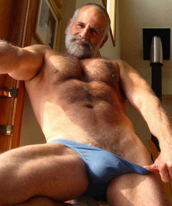 Naked hairy man bears