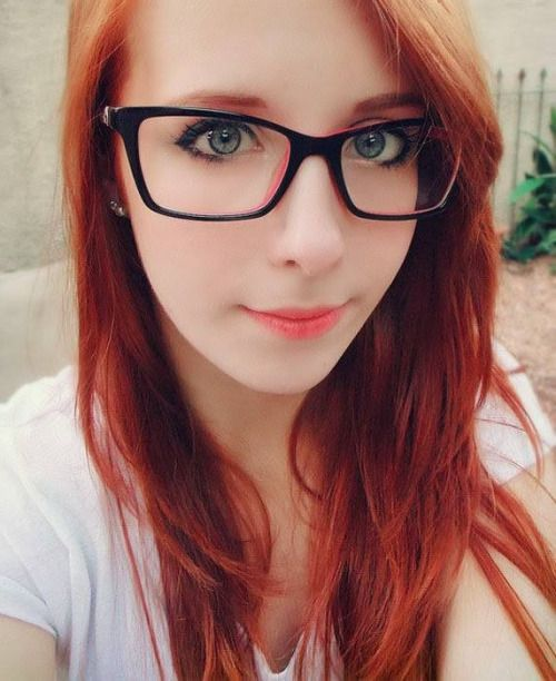 Redhead teen glasses