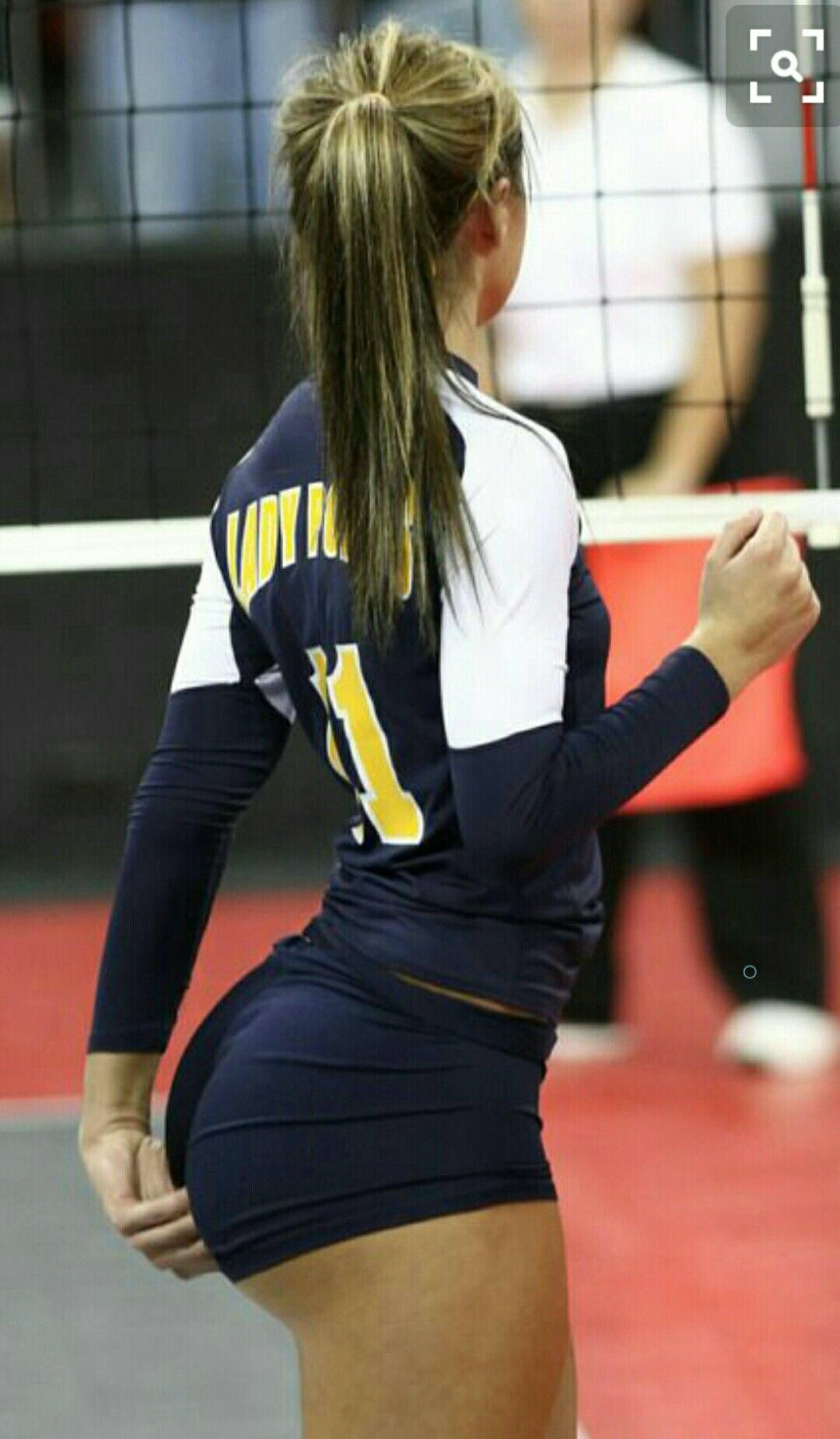 Girls ass volleyball big