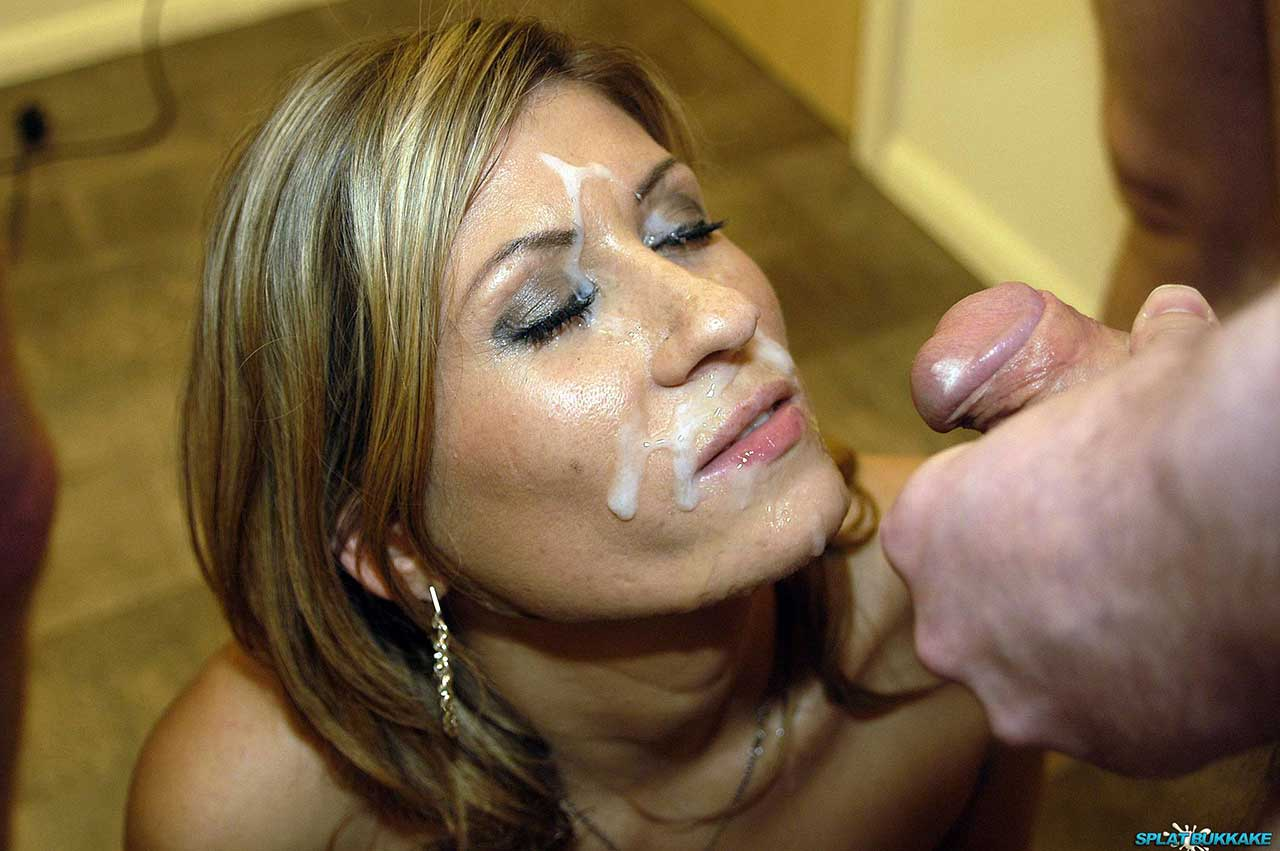 Black milf cum on face