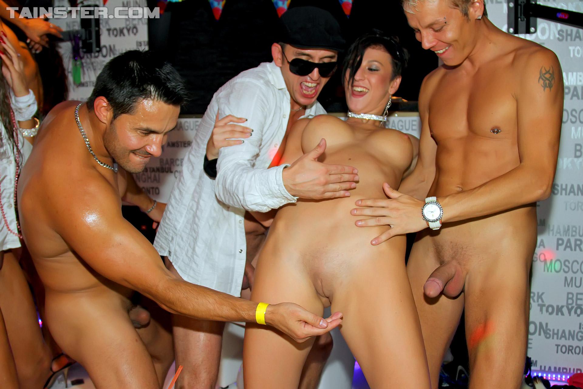 Lingerie party porn