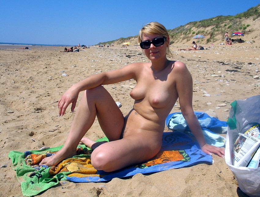nude beach sunbathing Wife