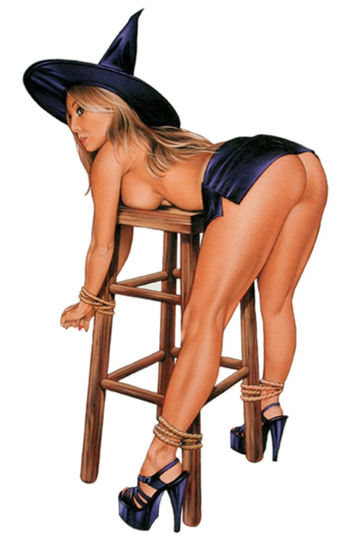 Nude college girl naughty witch