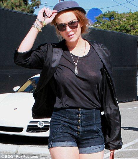 Lindsay lohan see through shirt