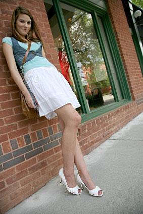 Teen junior girl models young