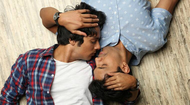 Indian gay men kissing